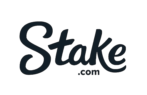 Logo of Stake.com website that offers crypto sports betting and crypto casino games