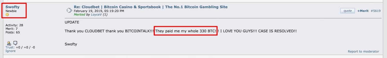 Caso Swofty bitcointalk Cloudbet Bitcoin Casino Sportsbook El sitio de apuestas número 1 de Bitcoin